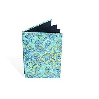 Leporello blanko für Fotos 10×15, Faltbuch im Hochformat für 10×15-er Bilder, kleines Album zum einkleben, Marmor-Papier…