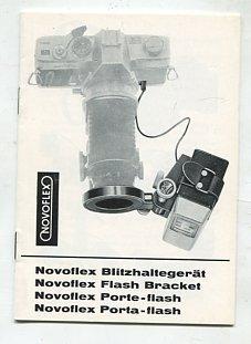 Novoflex Blitzhaltegerät BGH 1077 / Flash Bracket / Porte-flash / Porta-flash. Novoflex Flash