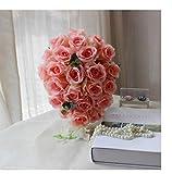 TTZSE Hochzeits-Brautjungfern-Champagne-Rosa-Wasserfall, der Brautstrauß-romantischen Hochzeits-Blumenstrauß-Blumen-Braut-Hochzeits-Zusätze Wedding ist
