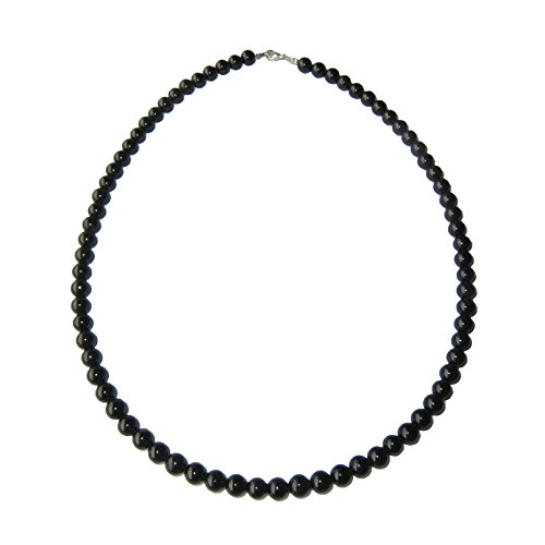 Collar Turmalina negra 100cm - Bolas de piedra 6mm...