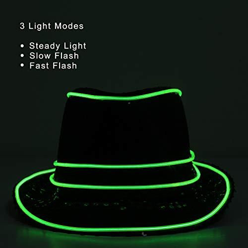 YOU LOOK UGLY TODAY LED Light Hut Party Leuchte Kappe mit LED Beleuchtung Jazz Blinker Hut Partyhut für Party Halloween Karneval (Kostüm Mit Led-leuchten)
