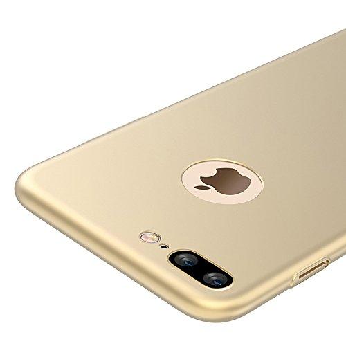 Negro Ultra-delgado Funda Case Cover y Protector de Pantalla Para Apple iPhone 7 Plus 5.5 pulgadas Vooway® MS70196