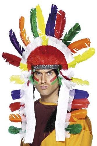 Smiffys Unisex Indianer Kopfschmuck, One Size, Bunt, 95317