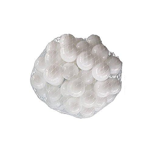 Stillshine 40 Bunte Bälle Four Color Ball Pit Balls-Ozean-Kugel ,Bälle Ø 7cm / 5.5cm Bälle für Baby Kind Kindspielwaren-Swimmingpool-Farben-Plastikkugeln im Kinderspiel-Baby-Geschenk (Weiß, 7 cm)