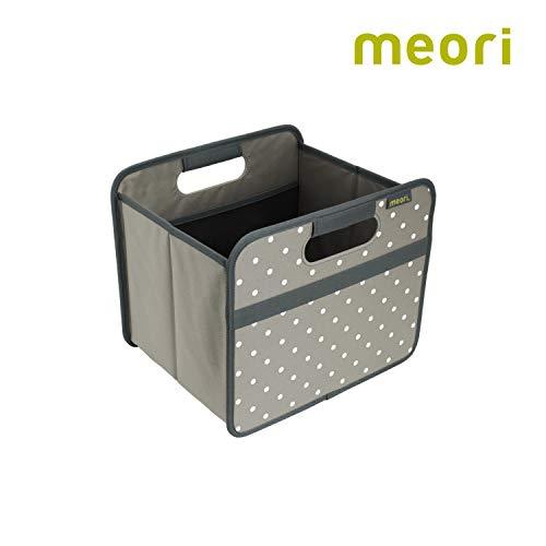 Faltbox Classic Small Stein Grau / Punkte 32x26,5x27,5cm stabil abwischbar Polyester Küche Badezimmer Flur Staubox Accessoires Kosmetik Bücherkiste Aufbewahren Sortieren (Küche Kosmetik)