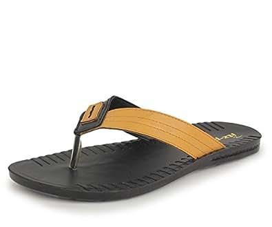 Trase Italica Vesta Black-Yellow Men Flip-flops and Slippers-6 IND/UK