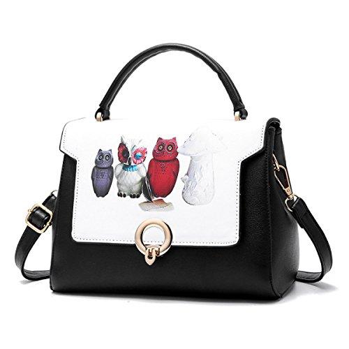 Damen-Handtaschen-Kurier-Beutel-Art- Und Weiseelegante Druck-Handtaschen-magnetische Wölbungs-Schulter-Beutel-Handtasche C