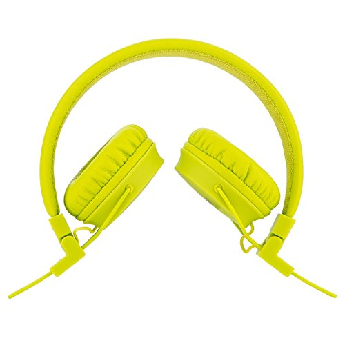 Termichy Wired Kinder Kopfhörer Faltbarer On-Ear Hifi Stereo Headset mit Inline-Control Abnehmbare 3,5mm Klinkenstecker Audio Kabel (Green) - 5