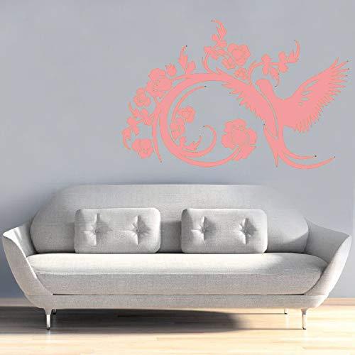 yiyiyaya Adesivo Murale Soggiorno Divano Sfondo Decorazione della casa Camera da Letto Adesivo murale Arte Decalcomanie Rimovibili Rosa 85x56 cm