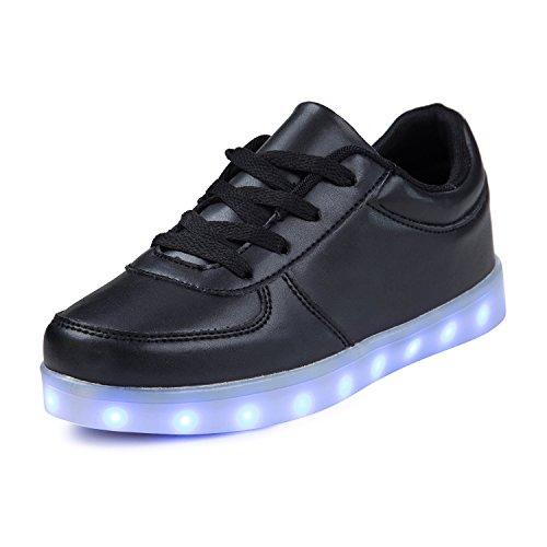 sale retailer 610a8 f7dd6 SAGUARO® Mädchen Jungen Leuchtschuhe 7 Farben Kinderschuhe USB Aufladen LED  Schuhe Leuchtende Blinkschuhe Licht Turnschuhe Light Up Sport Sneaker, ...