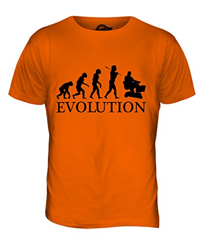 CandyMix Elektromobil Evolution Des Menschen Herren T Shirt Orange