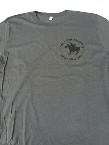 Crazy Horse T-shirt (Neil Young & Crazy Horse-Local Crew 2014 T-Shirt (Grün, XL, Male))