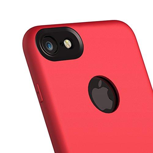 Wkae Baseus Arc Edge Das ganze Paket TPU + PC Weiche und harte Mosaik Kombination Schutzhülle für iPhone 7 ( Color : Red ) Red