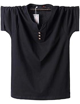 2018 neues Düngemittel kurzärmeliges T-Shirt große Größe Fett Baumwolle T-Shirt M-8XL150CM halb-sleeved Herren