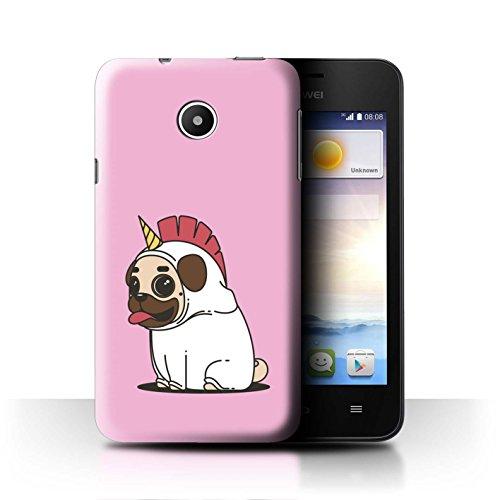 Stuff4® Hülle/Case für Huawei Ascend Y330 / Karikatur Mops/Pug Muster/Einhorn/Unicorn Kollektion