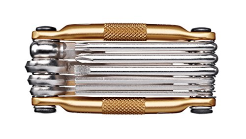 Crank Brothers Multi-10 Multitool, Gold, one size