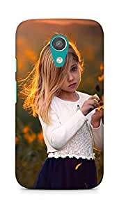 Amez designer printed 3d premium high quality back case cover for Motorola Moto G2 (Girl)
