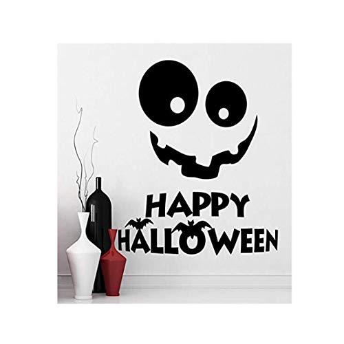 Moderne Kundenspezifische Handwerkswandaufkleber-Tapete Wandaufkleber Urlaub Dekoration Fenster Wandbild Lächeln Aufkleber Halloween Holiday Home Decor Art ()