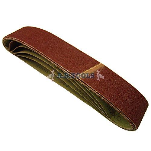 Paquete 10 bandas lija grano 80 686 x50mm herramienta