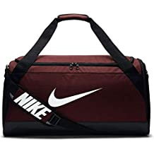 Nike Nk Brsla M Duff Bolso, Unisex Adulto, Rojo (Dark Team Red/