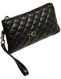 F9Q femmes Pochettes Lady Soft PU cuir Zip embrayage portefeuille Wallet carte sac à main sac à main Long cartables Wristlet sac