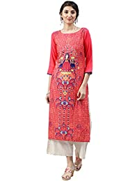 Vaamsi Crepe Digital Printed Kurti(VPK1500_Orange_Free Size)