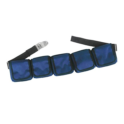 Sharplace Tauchgürtel mit Zubehör Set Edelstahl und Kunststoff Schnalle, Bleitaschen, Zusätzliche Tauchgewichte Taschen - mit 5 Taschen