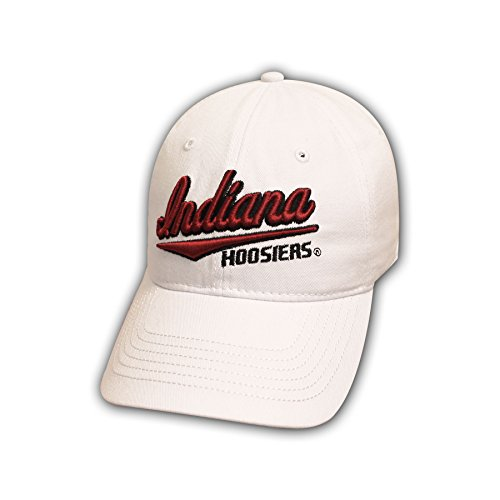 7651d7291c259 Ouray Sportswear NCAA Indiana Hoosiers Epic Washed Twill Cap, White,  Adjustable