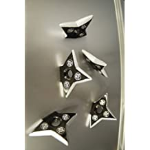 Ninja Pro Star/de lanzamiento Shuriken magnet- 5piezas.