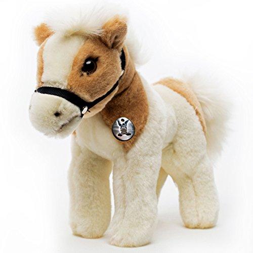 Kuscheltiere.biz Pony Zaina Pferd Tinker Schecke Isländer mit Halfter Plüschtier -