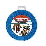 Mayka Tape Zuru Spielbaustein-Klebeband Selbstklebend – 4 Pins – Blau – 2 Meter