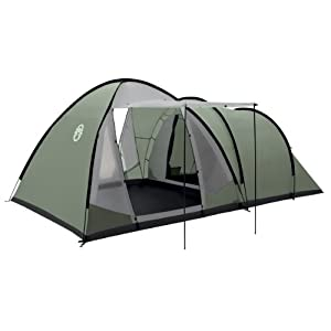 coleman waterfall 5 deluxe tent - green, 5 person