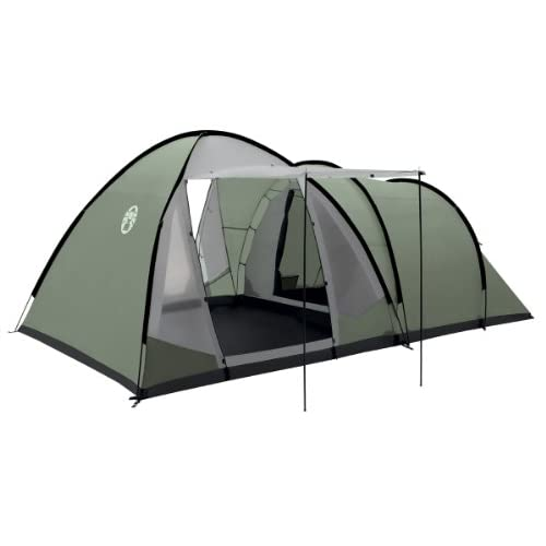 41rHuGYIqWL. SS500  - Coleman Waterfall 5 Deluxe family tent, 5 Man Tent with Separate Living and Sleeping Area, Easy to Pitch, 5 Person Tent, 100 Percent Waterproof HH 3000 mm, One Size