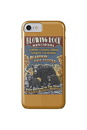 Blowing Rock, North Carolina - Black Bear Family Fall Colors (iPhone 7 Cell Phone Case, Slim Barely There)