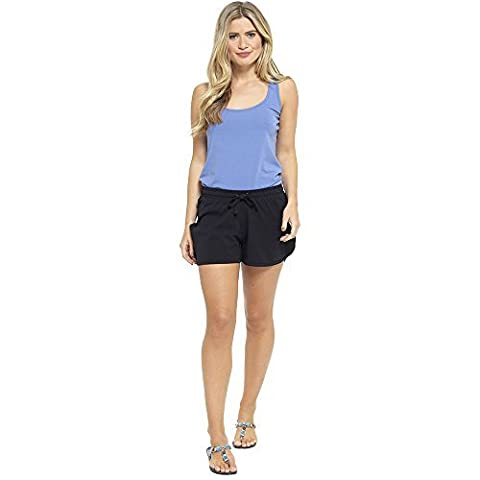 Ladies Cotton Blend Summer Shorts Lounge Beach Shorts UK Sizes 8-22 (16-18, Black)