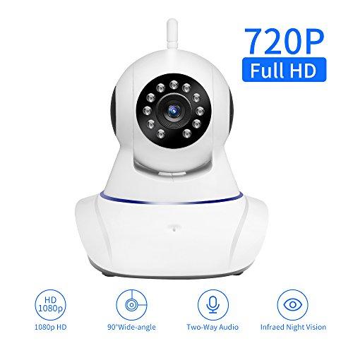 SDETER IP kamera Wlan HD 720P PTZ WiFi IP Sicherheitskamera Plug/Play überwachungskamera mit Baby Monitor Video 2-Wege Audio und Nachtsicht Funktion (Optik-video-baby-monitor)