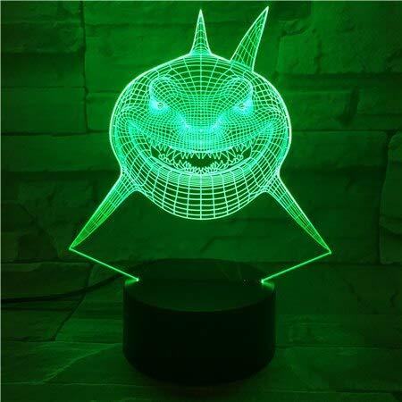 3D Imaginable Visuelle Lampe Findet Nemo Shark Bruce Multi Farben Abwechselndes LED Dekoratives Nachtlicht für Kinder Kinderzimmer