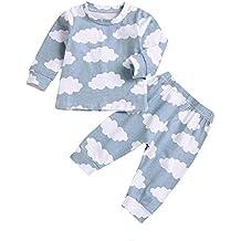 bce8854a130d5 Mamum Garçons Filles Coton Pyjama Bébé Four Seasons Sous-vêtements  Ensembles Enfants ...