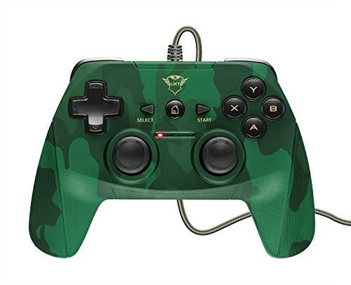 Trust GXT 540C Yula - Gamepad con Cable para PC, portátil y PS3, Color Verde