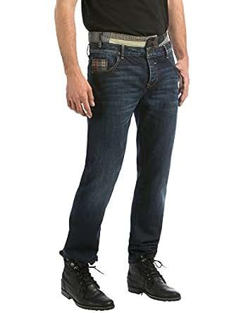desigual farmer 39 s denim jeans relaxed homme bleu. Black Bedroom Furniture Sets. Home Design Ideas