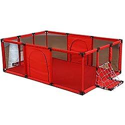 Parcs pour bébé Très Grand et Long pour Enfants, Centre d'activités Portable pour Enfants à l'intérieur, clôture de Terrain de Jeu pour la sécurité (Couleur : Rouge, Taille : 180x120x62cm)