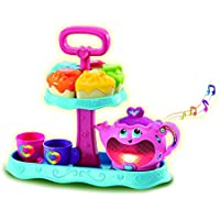 Leapfrog 603203 Musical Rainbow Tea Party Learning Toy (New Version), Toddler Pretend Play Tea Set Toy for Children with Educational Shape Sorter Toy, Lights and Songs, Suitable for 1-3 Years