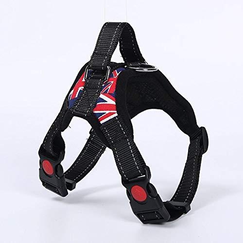 MYYXGS Halsband mit Brustgurt - reflektierendes Design Geeignet für kleine, mittlere und große Hunde. Verhindert heftige Stöße. Atmungsaktives Netz