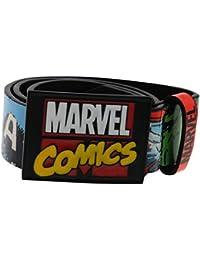 Marvel Comics Junior Belt Superhero Licensed Printed Childrens Hulk Spiderman Captain America Metal buckle Leather construction