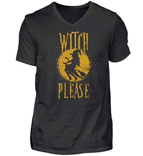 (Witch Please - Hexe Bitte - Hexen Halloween Kostüm 31. Oktober Geisterstunde Horror Nacht - Herren V-Neck Shirt)