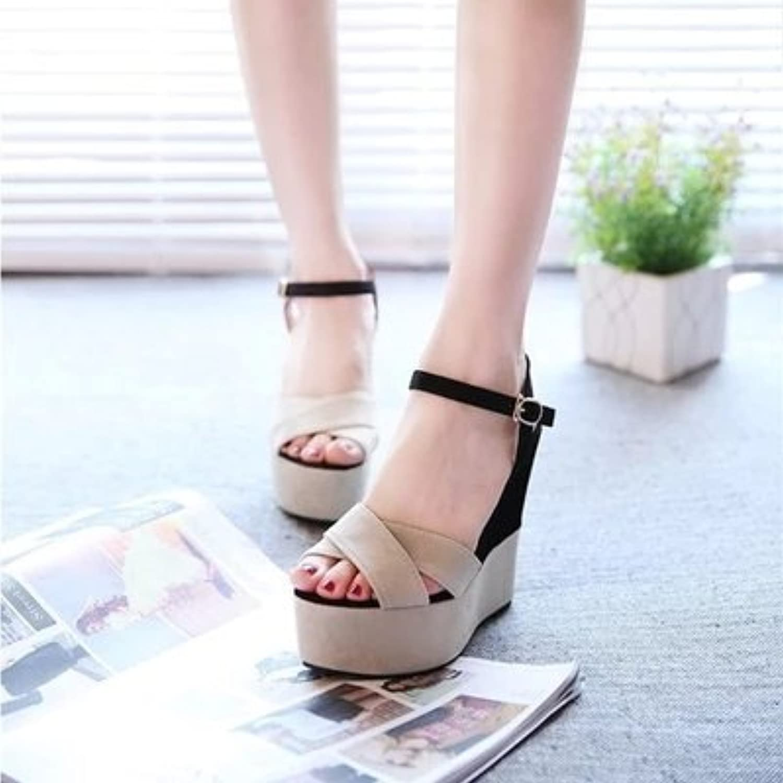 LGK&FA Damas Cool Zapatos Boca De Pescado Dama De La Tabla Inferior Impermeable De Tacón Alto Y Zapatos De Mujer...