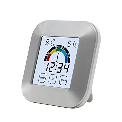 Sunneey Higrómetro Interior/Exterior Digital termómetro electrónico portátil Tipo de Contacto Reloj...