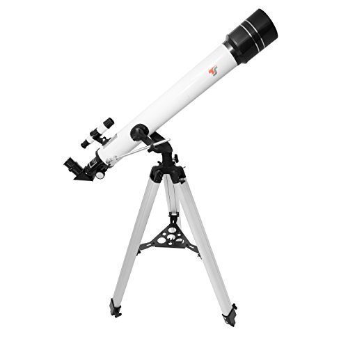 TS-Optics Refraktor Teleskop AC 70/700 AZ-2 Fernrohr mit 70mm Öffnung und 700mm Brennweite - Komplettausstattung für Einsteiger, Starscope707