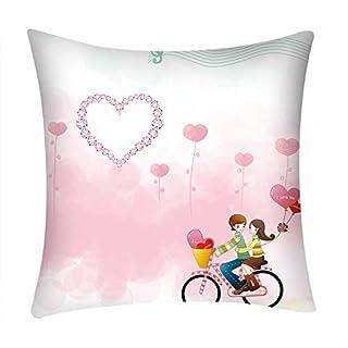 AmaSells Bedruckter Kissenbezug aus Polyester für Sofa, Auto, Heimdekoration, Polyester-Umarmungskissenbezug, dekorativer Kissenbezug Mulitcolor E