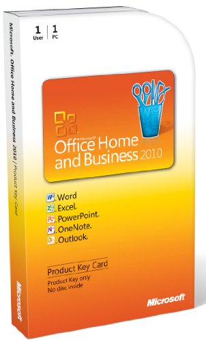 Microsoft Office Home and Business 2010 - 1PC/1User - englisch (Product Key Card) (2010 Outlook Key)